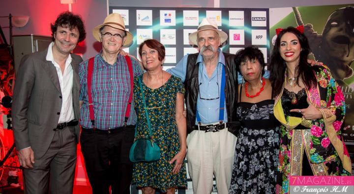 Christophe Carrière, René-Louis Pestel, Martine Rahyr, Vincent et Roselyne Mengin, les parents d'Aurélia, et Aurélia