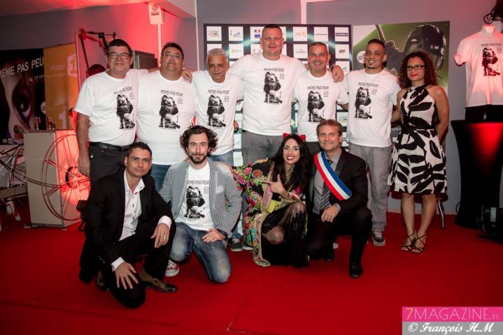 L'équipe du cinéma Henri Madoré au complet, avec Olivier Rivière, Yoni Posé, et Emmanuelle Payet