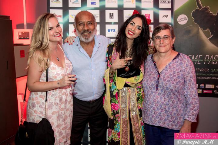 Aurélia avec Ava Baud, Jean-Paul et Cécile Von-Pine de PFC, partenaire du Festival