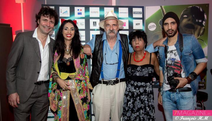 Christophe Carrière avec la famille Mengin au complet: Aurélia, Vincent, Roselyne et Pablo