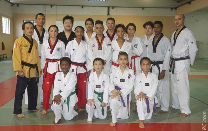 Avant les championnats de France à Nîmes, stage avec Maître Vipaul Huo Young, avec comme assistant Philippe Bernard, membre du Comité Directeur de la Fédération Française de Taekwondo
