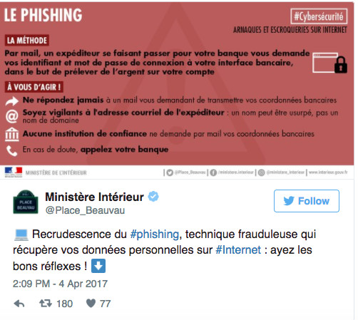 Attention aux arnaques au phishing sur Internet