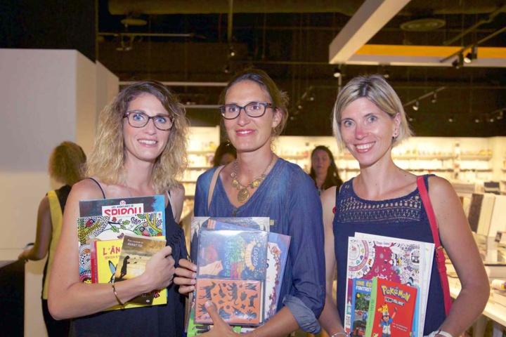 Eva Martin, Aurélie Pennec et Séverine Vitour, des clientes Fnac