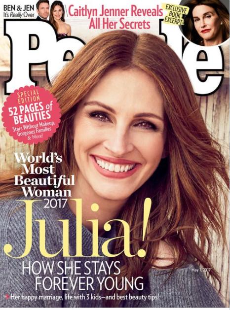"""Julia Roberts: """"Plus belle femme du monde"""" pour la 5ème fois!"""
