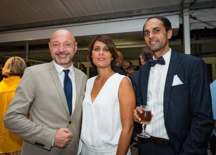 Antony Chaullet et Virginie Cazal de l'Agence Entreprise Nord et Ouest du Crédit Agricole, et Farid Omarjee, de l'Agence Entreprise Ouest