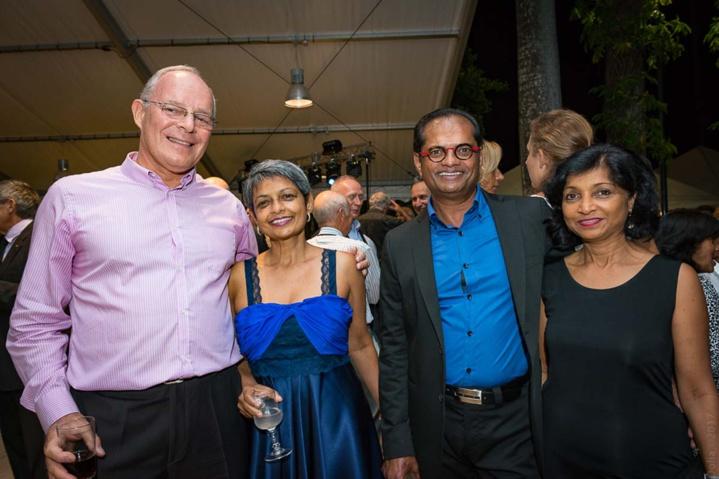 Manu Cadel, Patricia Viracaoundin, Yoland Viracaoundin, chef d'entreprise, et son épouse Marie-Line