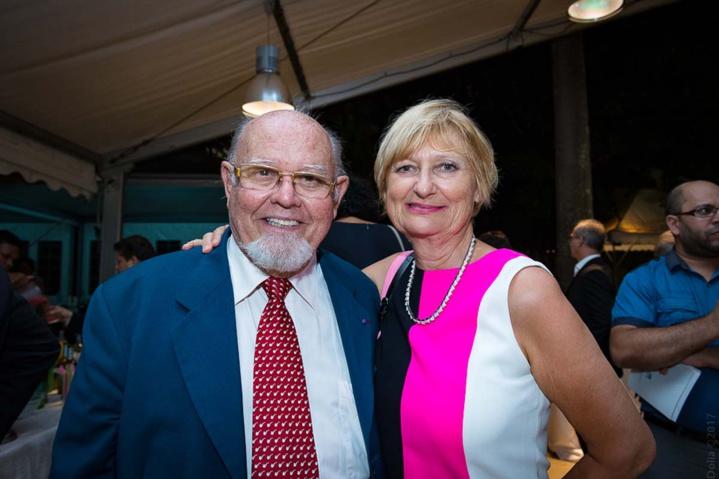 Alain-Marcel Vauthier et son épouse Marie-Christine