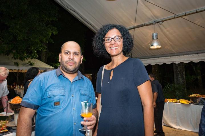 Imrane Moullan, chargé de mission Région Réunion, et Nathalie Bassire, vice-présidente de la Région