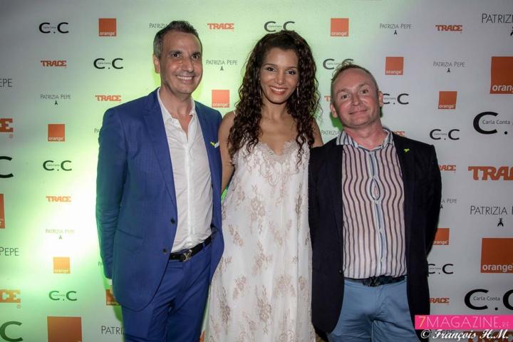 Alexandre Karras, Stéphanie Thazar, et Jean-François Salaun, responsable communication Carla Conta