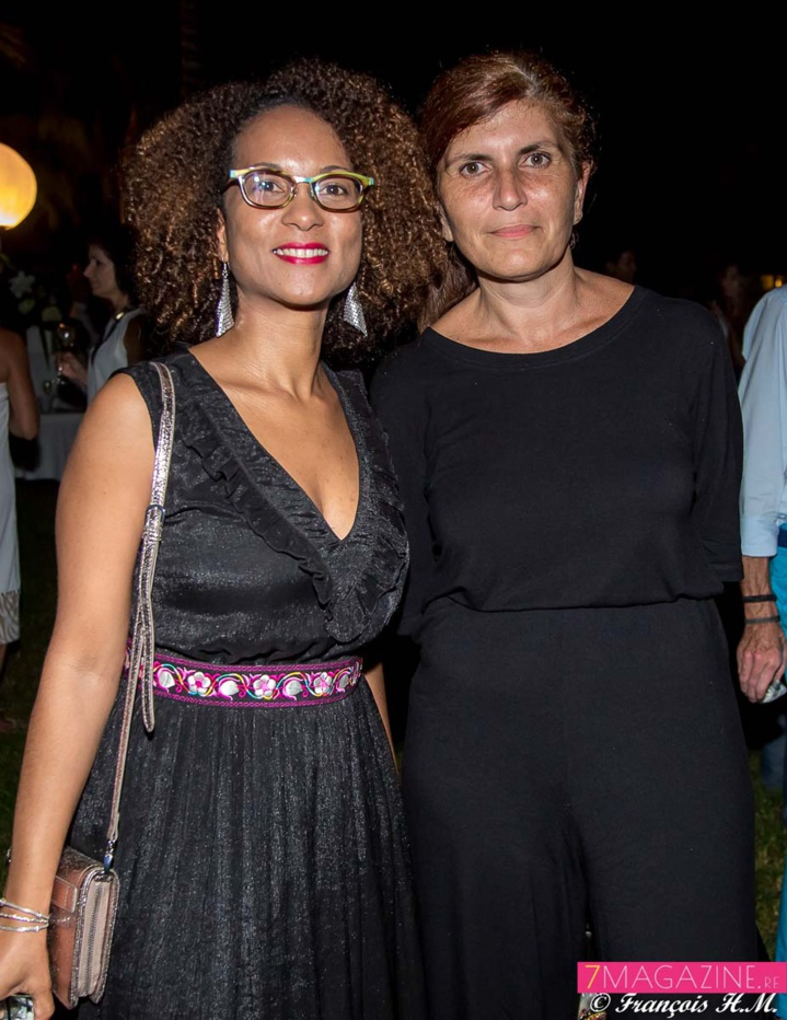 Géraldine Drula, directrice communication Orange Réunion Mayotte, et Mireille Hélou