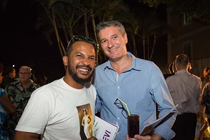 Lino, humoriste, et Patrick Mathieu, délégué régional de la Sacem