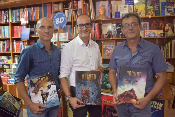 """Patrice Bavoillot, Afif Ben Hamida et Jean-Luc Schneider nous présentent les 3 tomes de """"Nogard"""""""