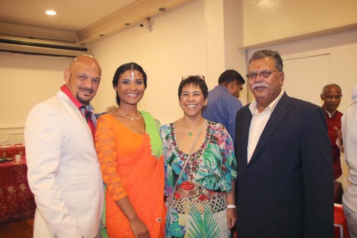 Pierre Nice, Florence Cataye, Liliane Bossi, et Selvam Chanemougame