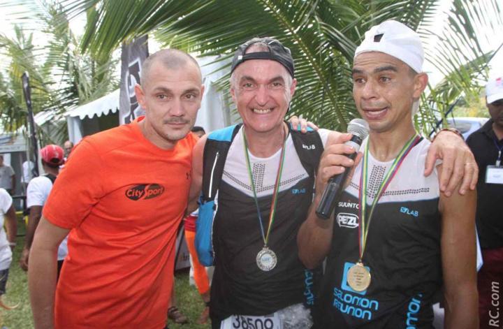 Bertrand Vienne de City-Sport, Laurent Allard de Salomon et Jeannick Séry