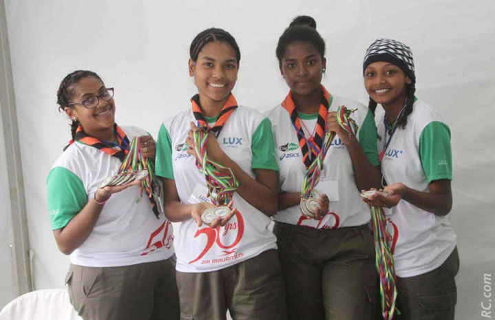 Angélique et ses camarades Scouts ont apporté leur contribution à la réussite de la manifestation