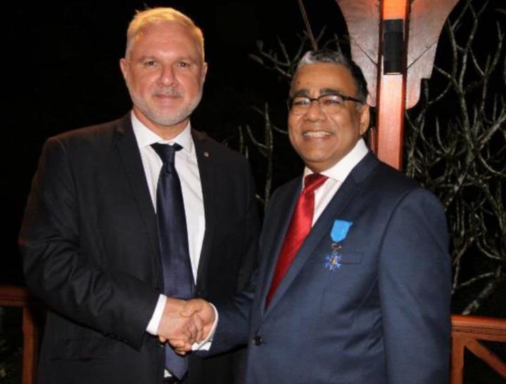 Gilles Huberson, Ambassadeur de France à Maurice, et Donald Payen, Vice-Président exécutif d'Air Mauritius