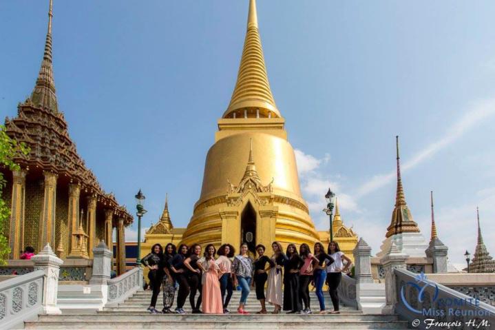 Les candidates Miss Réunion 2017 en Thaïlande