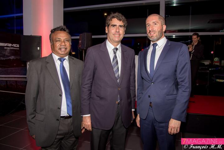 Armon Coupou, Nicolas Assier de Pompignan, directeur GBH, et Hubert Mardon
