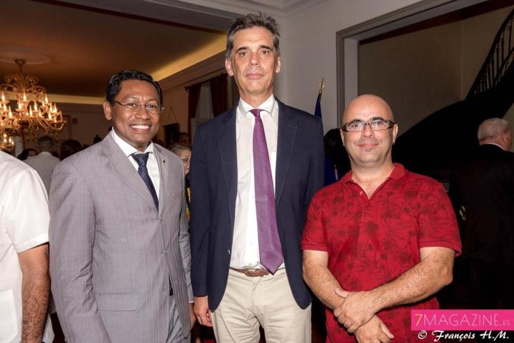 L'ex-Préfet avec Virapin Ramamonjisoa et David Léon Gimenez