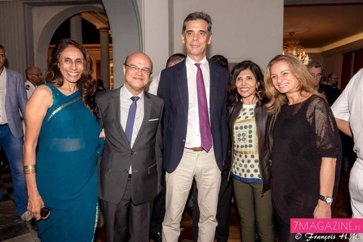 Léna Amourdom, Wilfrid Bertile, Dominique Sorain, Nassimah Dindar et Patricia Paoli