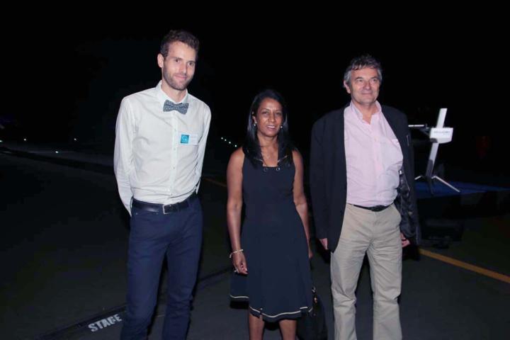 Yannick Millet, Gertrude Carpanin, et Christophe Rosset