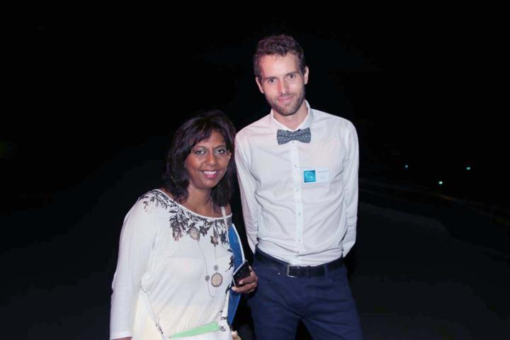 Lynda Savaranin du Conseil Départemental, et Yannick Millet