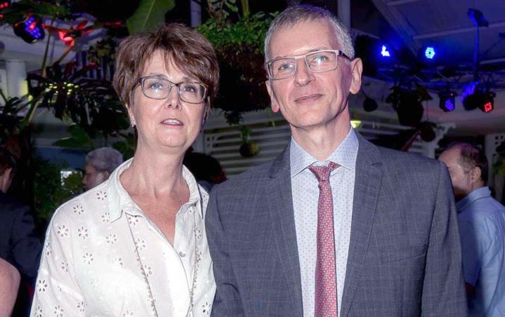 Hervé Maziau, directeur général Engen Réunion, et son épouse Sophie