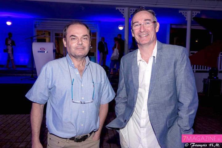 Mr Friederich de la société A3 Structures, et Antoine Perrau, architecte du cabinet d'architecture AP Architecture