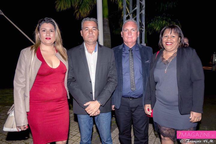 Philippe Payet et Patrick Marcou de la société ETP et leurs épouses
