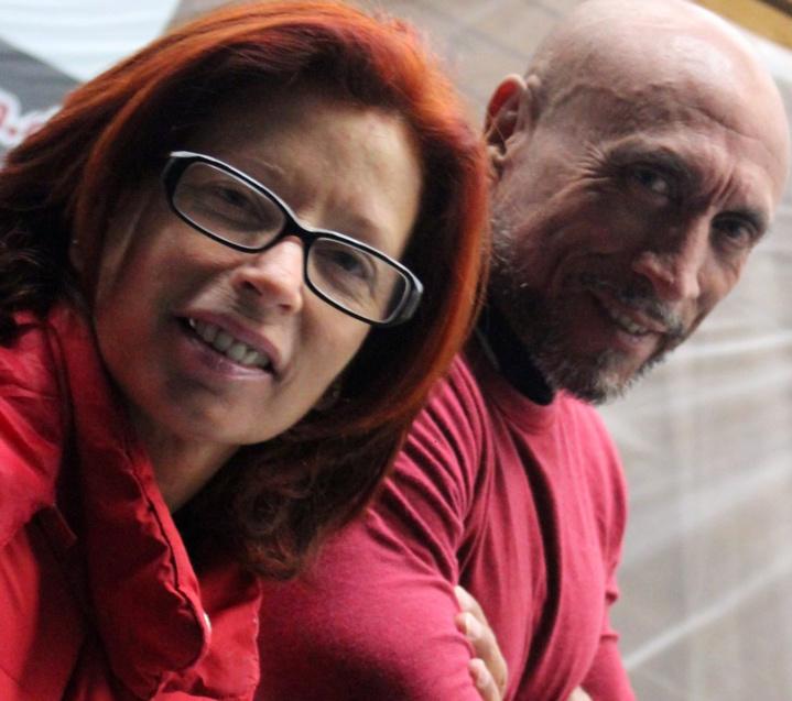 Son épouse Line, toujours à ses côtés, dans les bons comme les mauvais moments