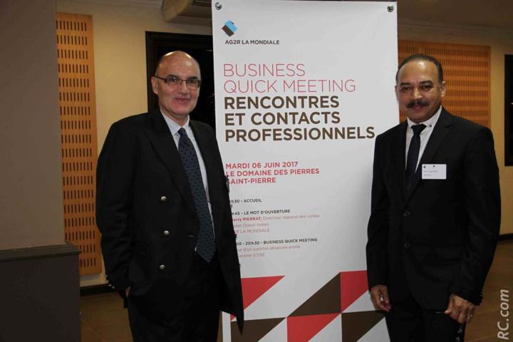 Thierry Pierrat, directeur régional de vente à La Réunion, et Pierre Hoolodor, manager de l'équipe du Sud