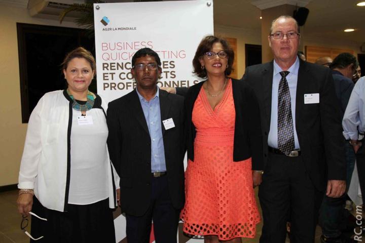 Huguette Robert, assistante commerciale, Roland Bandama Atiama, Delphine Thiaw Chu, chargée de Marketing Régional, et Guy-Pitou Fontaine