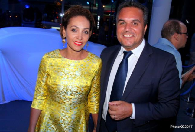 Didier Robert Président de la Région Réunion et son épouse Corine