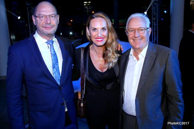 Ralf Follmann du Groupe BMW, Heike Pfeil Area Manager BMW AG et Dominique Gaudel Directeur de Semaphore