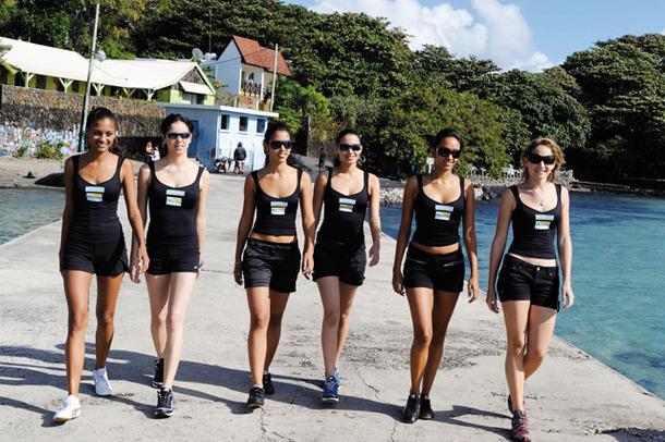 Les Candidates Miss Réunion 2009 à l'Ile Maurice - Jour 2