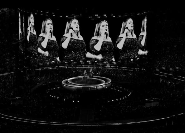 Photo: Instagram Adèle au Wembley Stadium