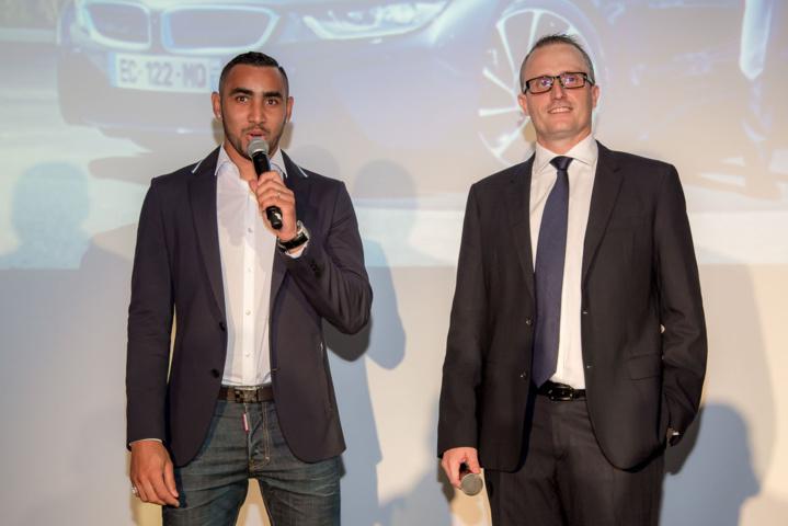 Dimitri Payet, ambassadeur BMW Réunion, et Philippe-Alexandre Rebboah