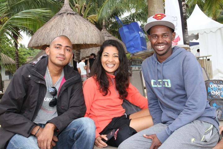 L'équipe de Rodrigues: Stève, Claudia Lai Heng et Flore Liraud