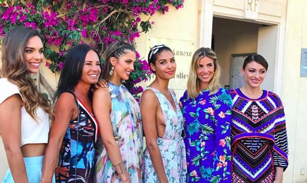 Les Miss France au mariage de Sylvie Tellier
