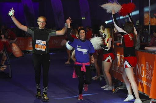 Son arrivée au marathon du Luxembourg