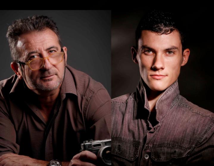 Les deux initiateurs du magazine, Pierre Marchal et son coéquipier de l'agence Anakaopress Luc Ollivier