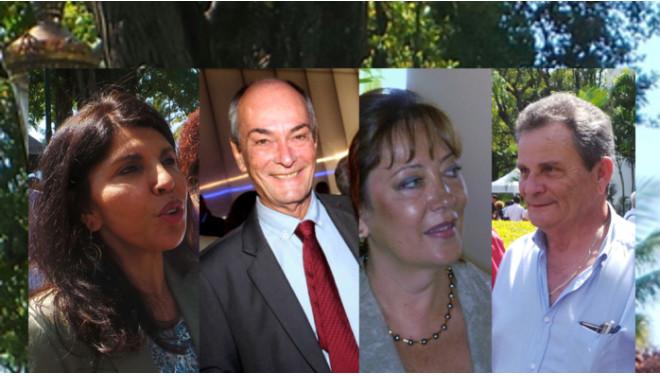 Dindar, Lagourgue, Malet et Dennemont élus sénateurs de La Réunion