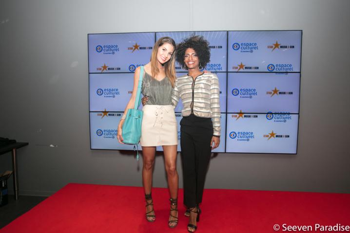 Louïz avec Marie Payet, Miss Réunion 2011