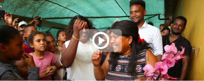 Une nouvelle maison, refaite à neuf par une centaine de bénévoles, pour Daniella et ses enfants