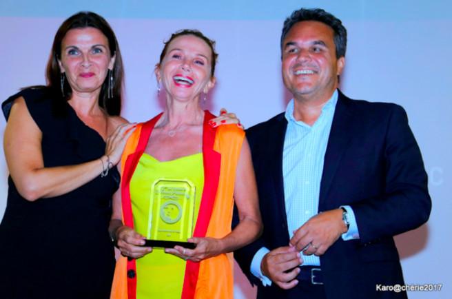 Edith Semmani, organisatrice de l'évènement, Victoria Abril et Didier Robert (Photos Karoline Chérie).