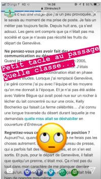 Valérie Bègue taclée par Sylvie Tellier: elle se défend!