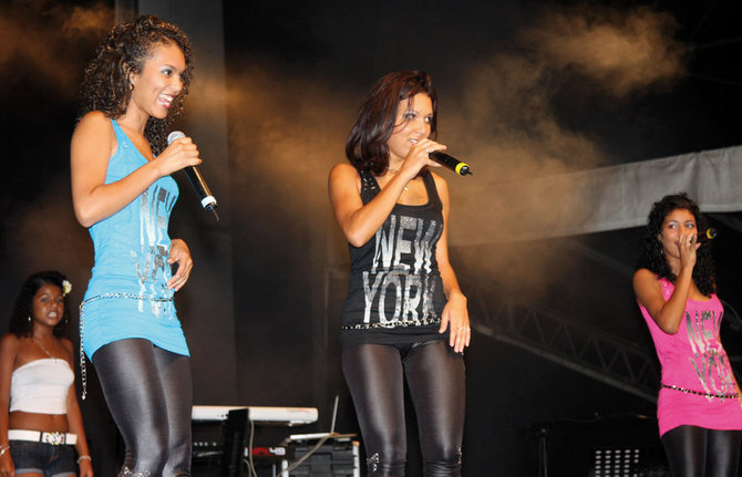 Les B Girls, pour la première fois sur la scène de Miel Vert, et en ouverture du concert de David Hallyday