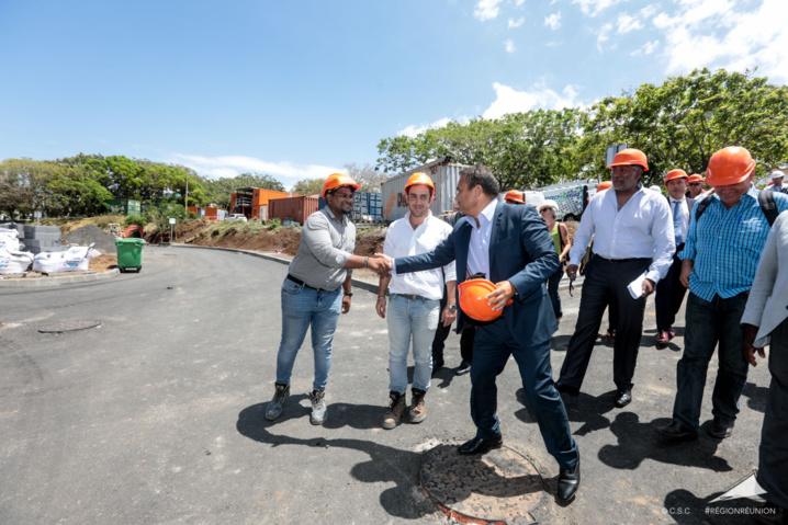 Visite du chantier d'extension et de modernisation du CHU Sud Réunion