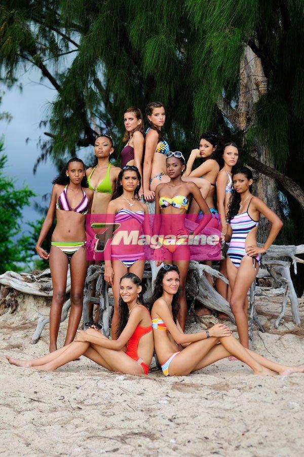 Les prétendantes au titre de Elite Model Look Réunion 2011