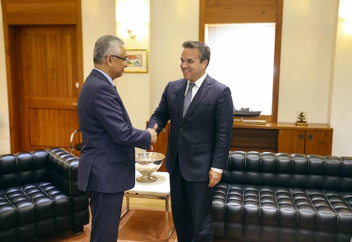 Rencontre entre Didier Robert et Pravind Jugnauth, Premier Ministre mauricien